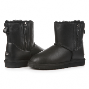 Фото UGG Mini Zip Leather Black
