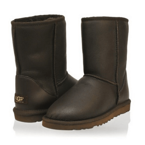 Фото UGG Classic Short Metallic Chocolate