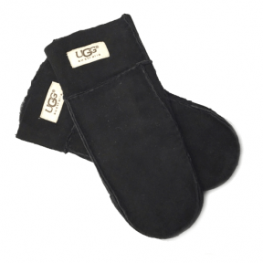 Фото UGG Sheepskin Black Mittens