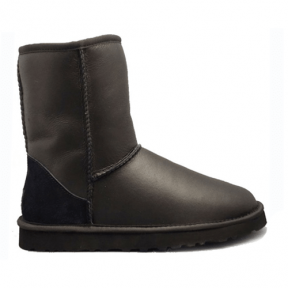 Фото UGG Classic Short Leather Black II