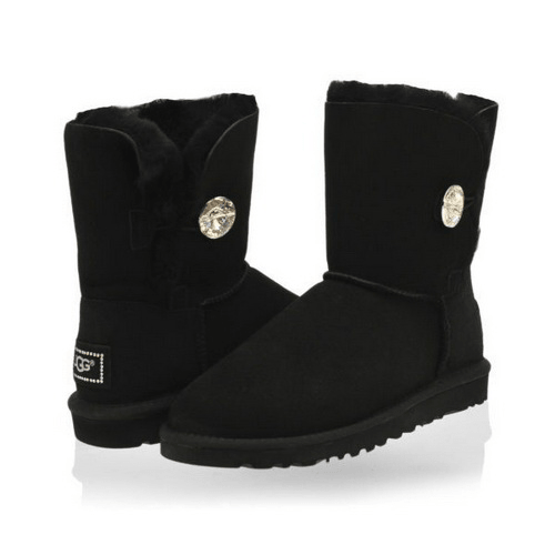 Фото UGG Kid's Bailey Button Bling Black