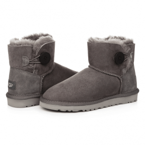 Фото UGG Mini Bailey Button Grey