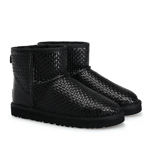 Фото UGG Woven Leather Black