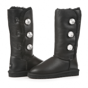 Фото UGG Triplet Bailey Bling Leather Black