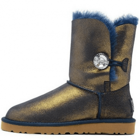 Фото UGG Bailey Button Bling Metallic Blue/Gold