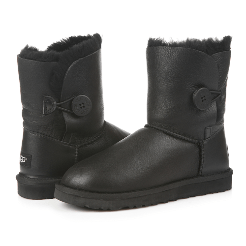 Фото UGG Bailey Button Metallic Black