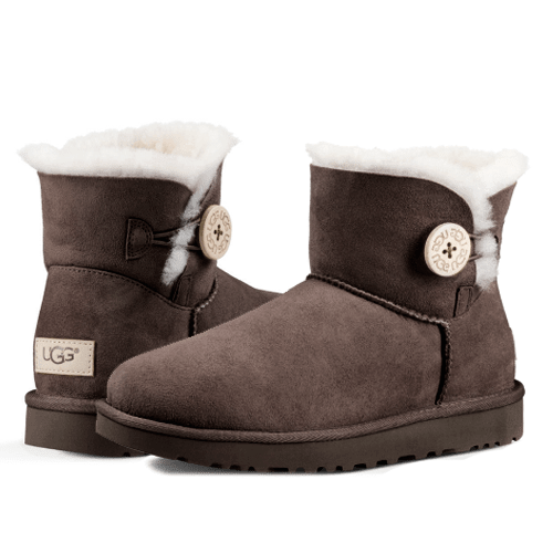 Фото UGG Bailey Button II Mini Chocolate