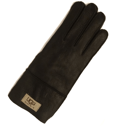 Фото UGG Men Leather Black Gloves
