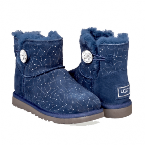 Фото UGG Bailey Button Mini Swarovski Blue