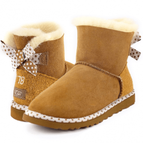 Фото UGG Bailey Bow 78 Chestnut