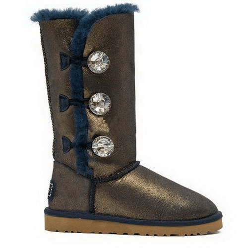 Фото UGG Bailey Button Triplet Bling Blue Gold