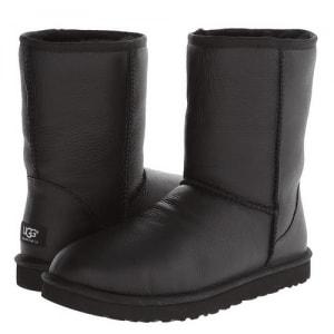 Фото UGG Classic Short Leather Black