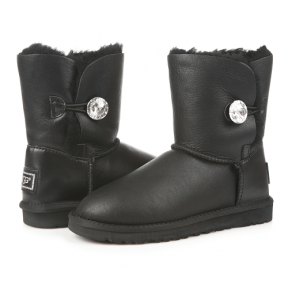 Фото UGG Kid's Bailey Bling Leather Black