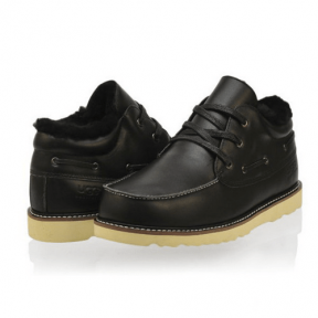 Фото UGG Fashion Short Leather Black