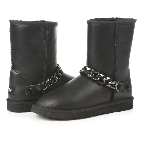 Фото UGG Short Chain Leather Black