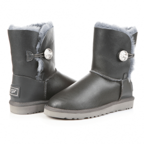 Фото UGG Bailey Bling Leather Grey