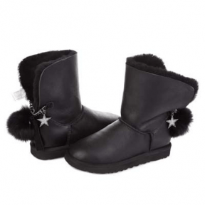 Фото UGG Bailey Button Leather Poppy