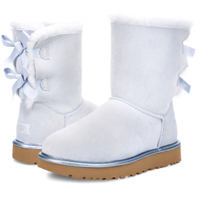 Фото UGG Bailey Bow II Metallic Sky Blue