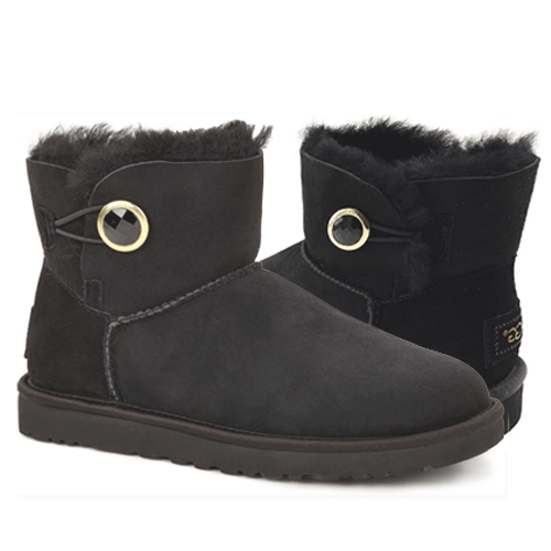 Фото UGG Bailey Button Mini Ornate Black