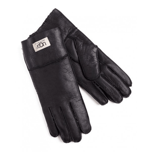 Фото UGG Leather Black Gloves
