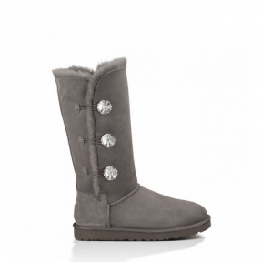 Фото UGG Bailey Button Triplet Bling Grey