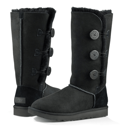 Фото UGG Bailey Button II Triplet Black