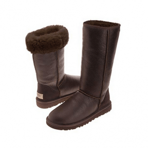 Фото UGG Tall Leather Chocolate
