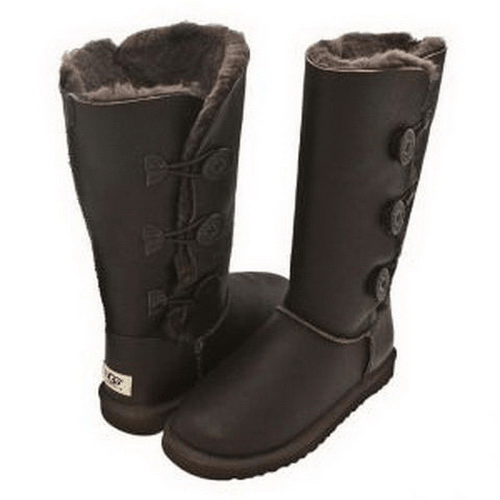 Фото UGG Bailey Button Triplet Leather Chocolate