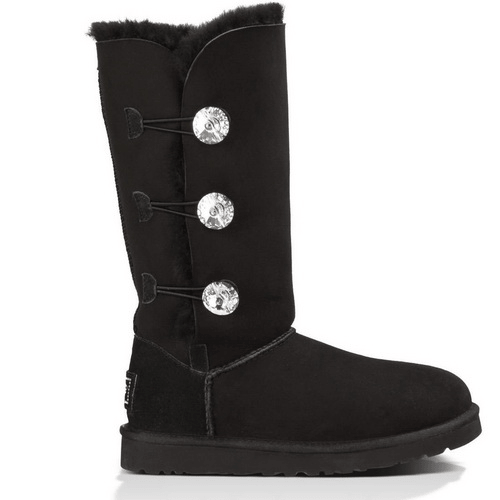 Фото UGG Bailey Button Triplet Bling Black