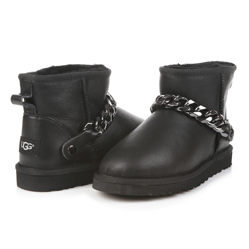 Фото UGG Mini Chain Leather Black