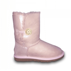 UGG Bailey Button Metallic Pink