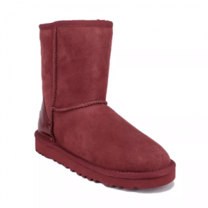 UGG Classic Short II Metallic Wine