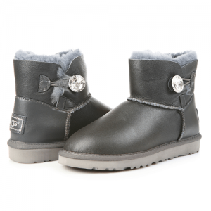 UGG Mini Baliley Bling Leather Grey
