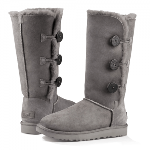 UGG Classic II Tall Triplet Button Grey