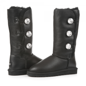 UGG Triplet Bailey Bling Leather Black