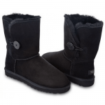 UGG Kid's Bailey Button Black
