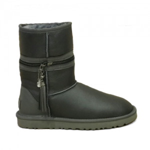 UGG Zipper Transformer Leather Gray