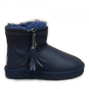 UGG Mini Zipper Leather Navy