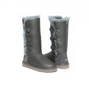 UGG Bailey Button Triplet Leather Grey