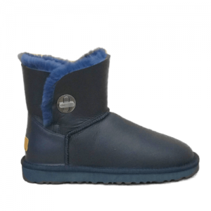 UGG Turnlock Mini Leather Boot Navy