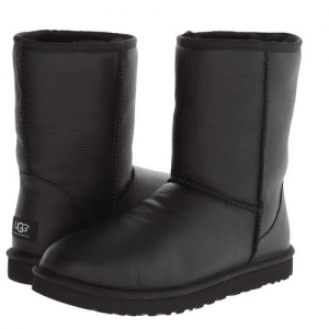 UGG Kid's Classic Short Leather Black