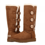 UGG Tall Triplet Button Chestnut
