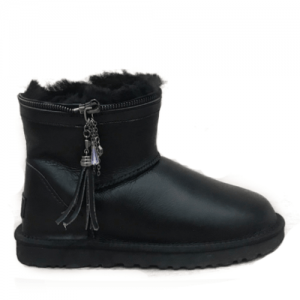 UGG Mini Zipper Leather Black