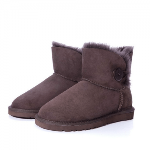 UGG Bailey Mini Button Chocolate