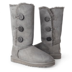 UGG Tall Triplet Button Grey