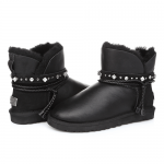 UGG Mini Strap Leather Black