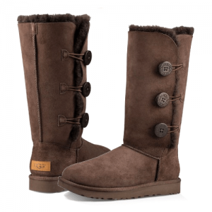 UGG Classic II Tall Triplet Button Chocolate
