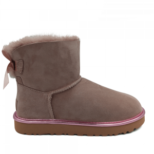 UGG Mini Bailey Bow II Metallic Boot Pink