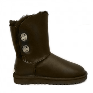 UGG Short Turnlock Bling Boot Leather Brown