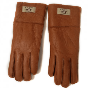 UGG Leather Chestnut Gloves
